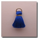 1-1750 Sapphire Blue Tassel w/Antique Gold Plate Jump Ring - 1/2