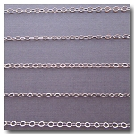 1-679 Rhodium Plate Petite Flat Cable Chain 2mm