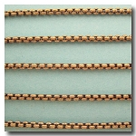 1-696 Antique Brass New Box Chain 2.5mm