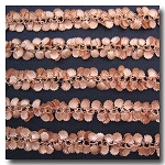 1-715 New Rose Gold Plate Sea Shells Chain