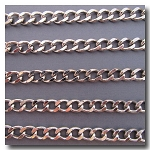 1-727 Rhodium Plate Diamond Cut Large Cable Chain
