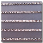 1-728 Rhodium Plate Flat Link Cable Chain
