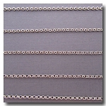 1-730 Rhodium Plate Small Classic Rolo Style Chain 2mm