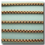 1-702 Antique Brass New Box Chain 3mm