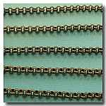 1-099 Antique Brass Rolo (Belcher) Style Chain 3mm