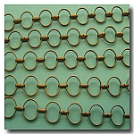 1-084 Antique Brass Round-Ring Contemporary Chain