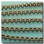 1-087 Antique Brass Large Rolo Chain 7mm