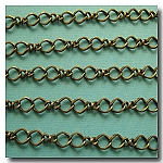 1-101 Antique Brass Twisted Figure Eight Chain