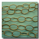 1-158 Antique Brass Large Stylish Oval Chain