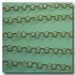 1-159 Antique Brass Contemporary Round Curb Chain 5mm
