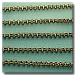 1-214 Antique Brass Small Classic Rolo (Belcher) Style Chain 2mm