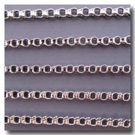 1-744 Rhodium Plate Urban Style Chain 4.5mm
