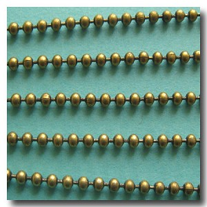 1-315 Antique Brass Ball Chain 2mm