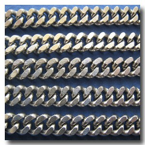 1-374 Stainless Steel Large Double Diamond Cut Boxcar Curb Chain 8mm