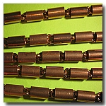 1-071 Vintage Antique Copper  Cylinder Chain
