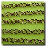Antique Copper Twisted Figure Eight Chain