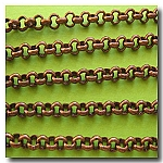Antique Copper Rolo (Belcher) Style Chain 3mm