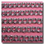 Gunmetal Large Double Curb Chain 9.8x11mm