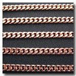 Rose Gold Plate Small Diamond Cut Boxcar Chain 4mm