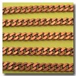 Antique Copper Diamond Cut Boxcar Chain 6mm