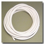 White Euro Licorice Rubber 10mm x 6mm