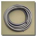 Silver Euro Licorice Rubber 10mm x 6mm
