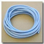 Sky Blue Euro Licorice Rubber 10mm x 6mm