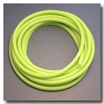 Fluorescent Key Lime Euro Rubber 9.5mm x 5mm.