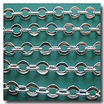 Silver Plate Large Flat Link Chain