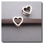 Antique Silver Euro Licorice Heart