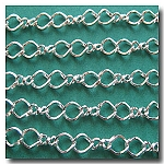 Silver Plate Twisted Figure Eight Chain