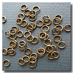 1-198 Antique Brass Jump Rings -- 6mm x 21 gauge