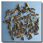 1-150 Antique Brass Beading Chain Crimps 10pieces  - 1mm with Loops