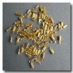 1-155 Gold Plate Beading Chain Crimps 10pieces  - 1mm with Loops