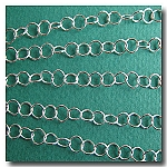 Silver Plate Contemporary Round Curb Chain 5mm