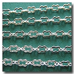 Silver Plate Petite Peanut Style Chain