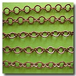 Antique  Copper Petite Figure Eight Style Chain