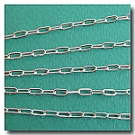 Silver Plate Flat Elongated Cable Chain