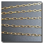 Gold Plate Flat Elongated Cable Chain