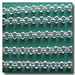 Silver Plate Small Classic Rolo (Belcher) Style Chain 2mm