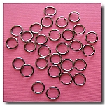 1-229 Gunmetal Jump Rings -- 8mm x 18 gauge