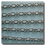Brushed Silver Plate Romantic Style Chain