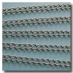 Brushed Silver Plate Petite Curb Chain