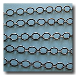 Brushed Silver Plate Smooth Oval Style Chain