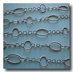 Brushed Silver Plate Contemporary Braided Chain