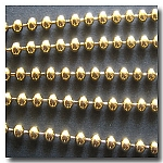 Antique Gold Plate Ball Chain 3.2mm