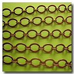 Antique Copper Smooth Oval Style Chain
