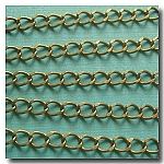 Antique Brass Petite Curb Chain