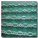 Silver Plate Romantic Style Chain