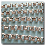 Brushed Silver Plate Large Rolo Chain 7mm